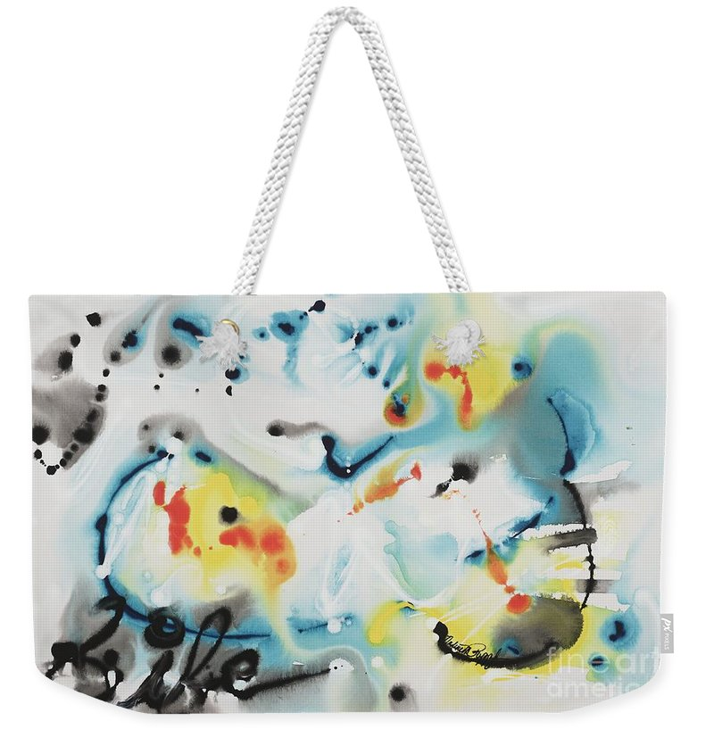 Life Weekender Tote Bag featuring the painting Life by Nadine Rippelmeyer