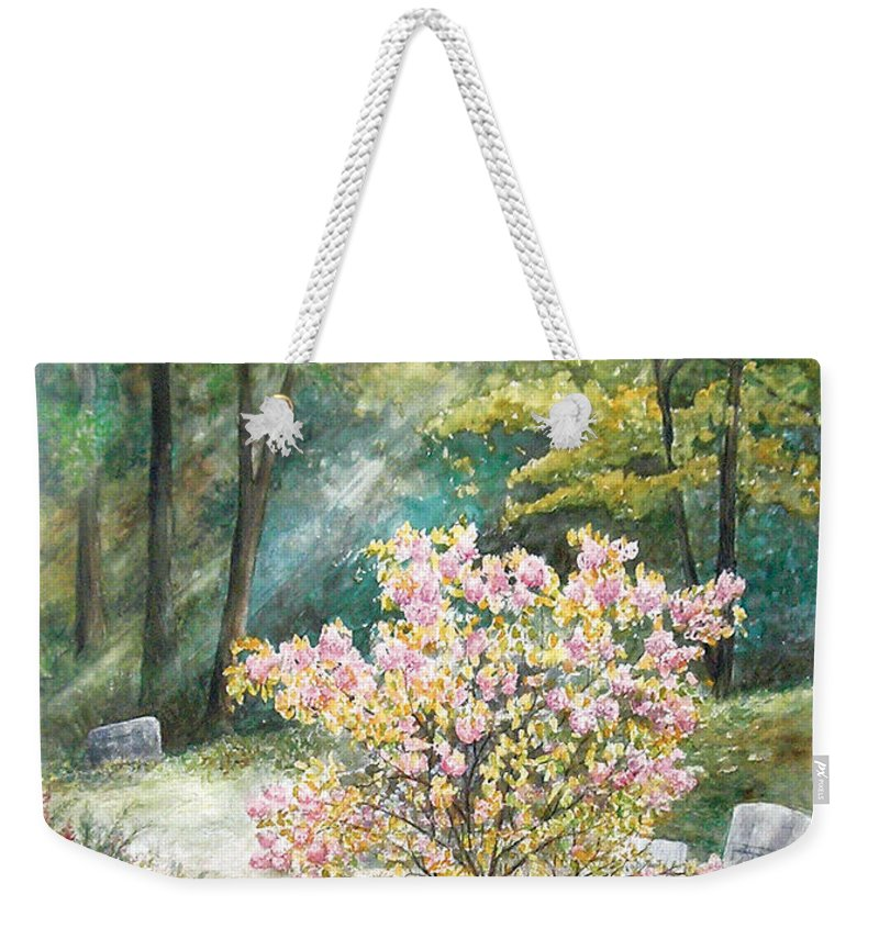 Landscape Weekender Tote Bag featuring the painting Life by Valerie Meotti