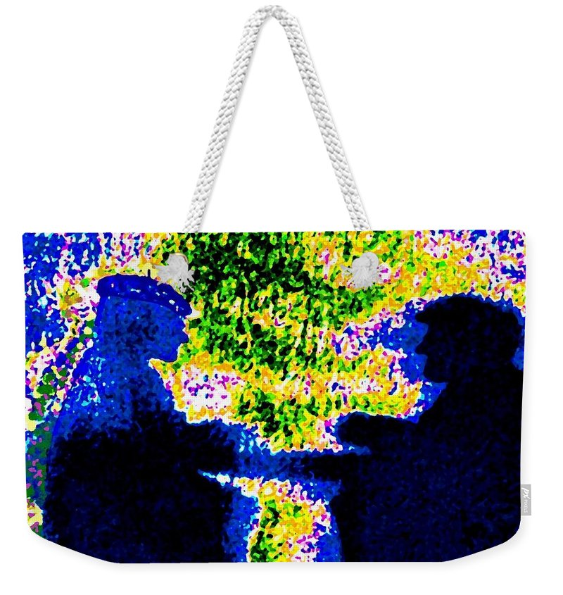Abstract Weekender Tote Bag featuring the digital art Lifelong Friends by Will Borden
