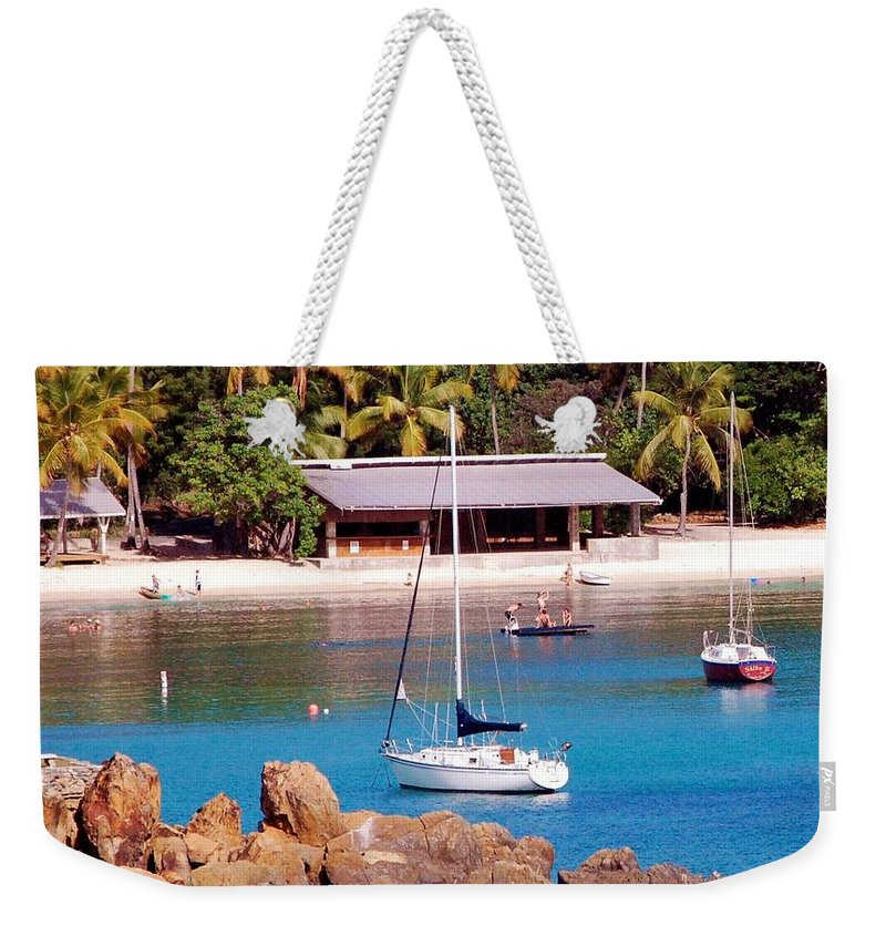 Beach Weekender Tote Bag featuring the photograph Lifes A Beach by Debbi Granruth