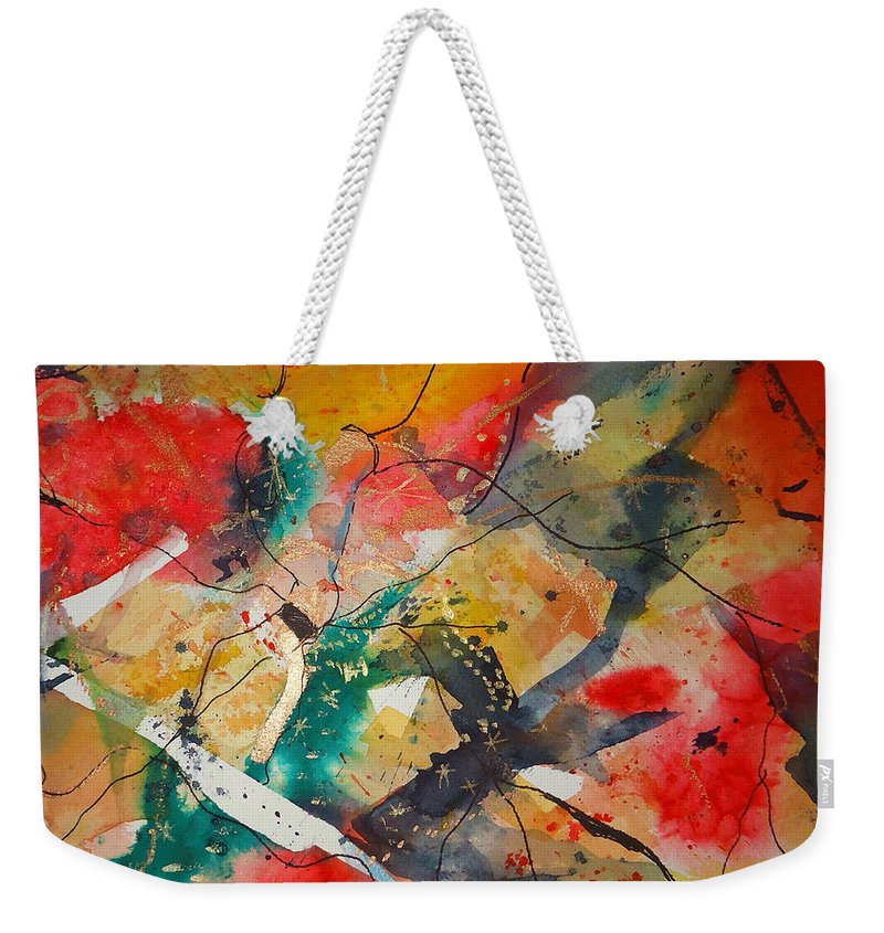 There Are Always Cracks In Life . Abstract Weekender Tote Bag featuring the mixed media Lifes Little Cracks by Charme Curtin