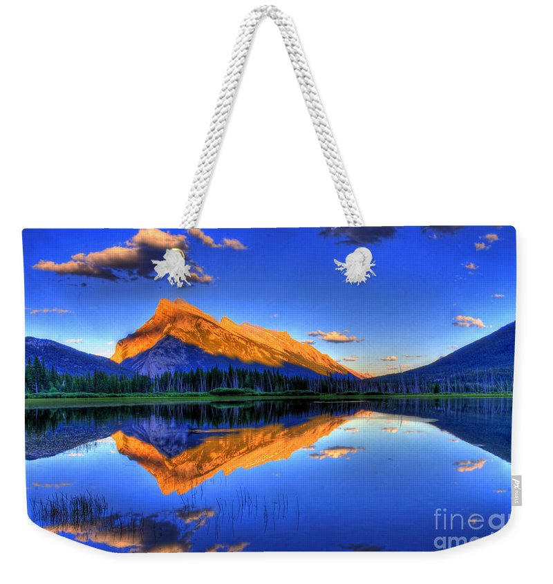 Rocky Mountains Weekender Tote Bags