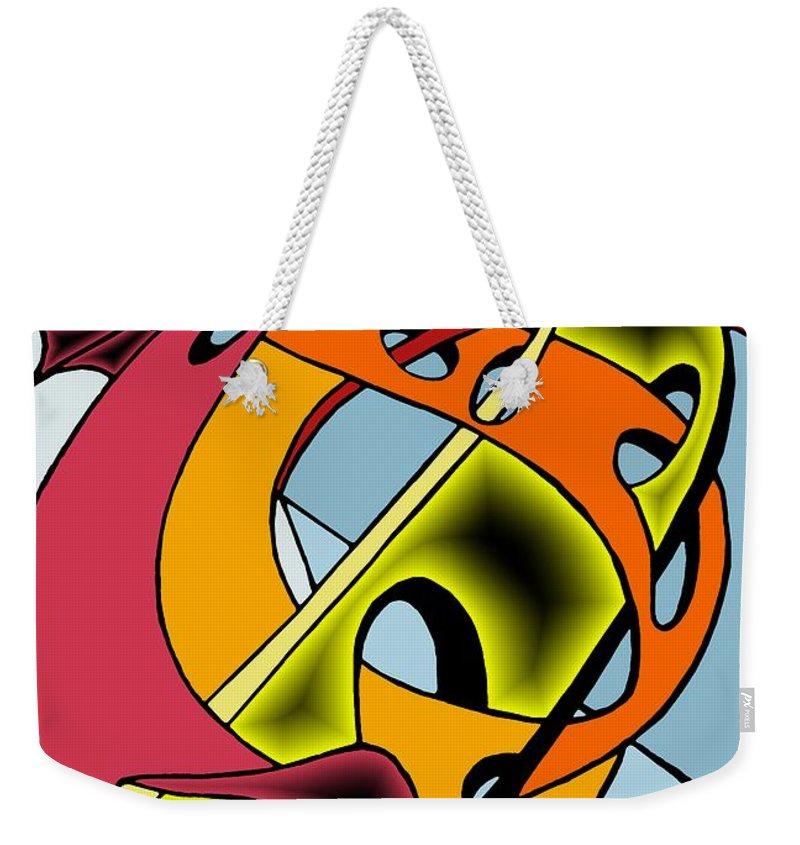 Lifeways Weekender Tote Bag featuring the digital art Lifeways by Helmut Rottler