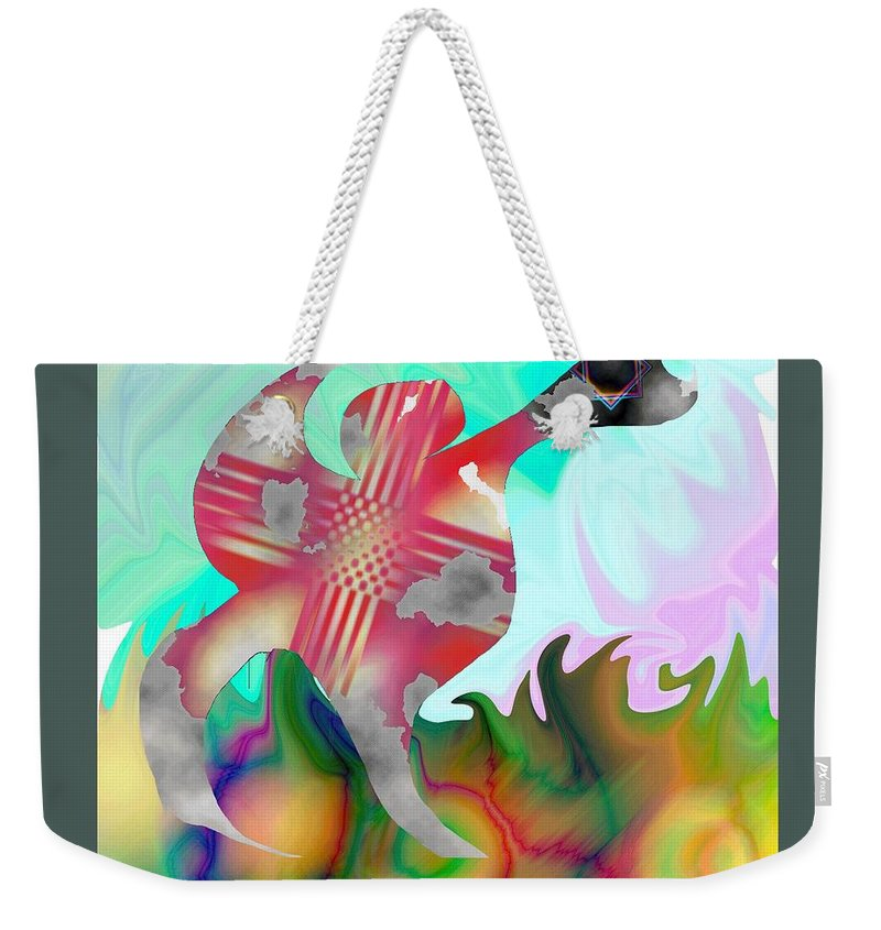 Abstract Weekender Tote Bag featuring the painting Lifting The Color by Victor Vosen