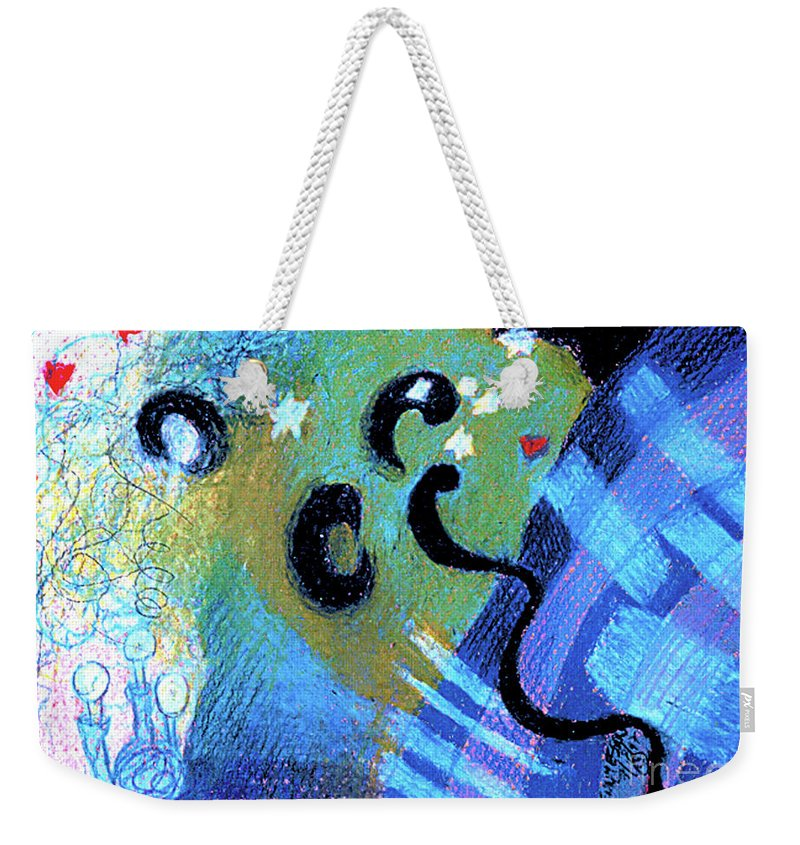 Light Weekender Tote Bag featuring the drawing Light 3 by Genevieve Esson