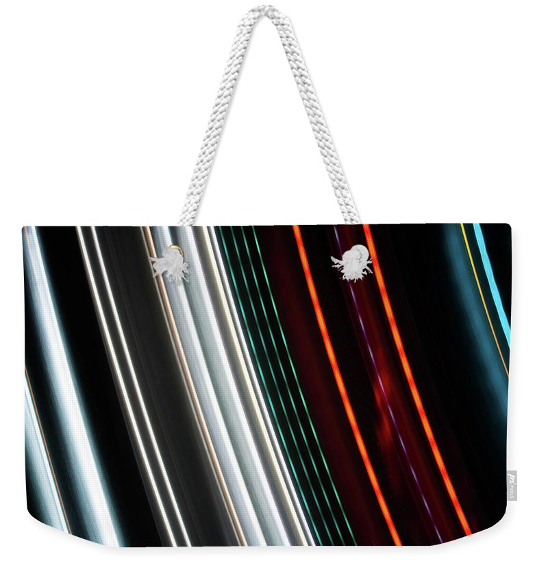 Light Painting Weekender Tote Bag featuring the photograph Light 3 by Jacki Putnam