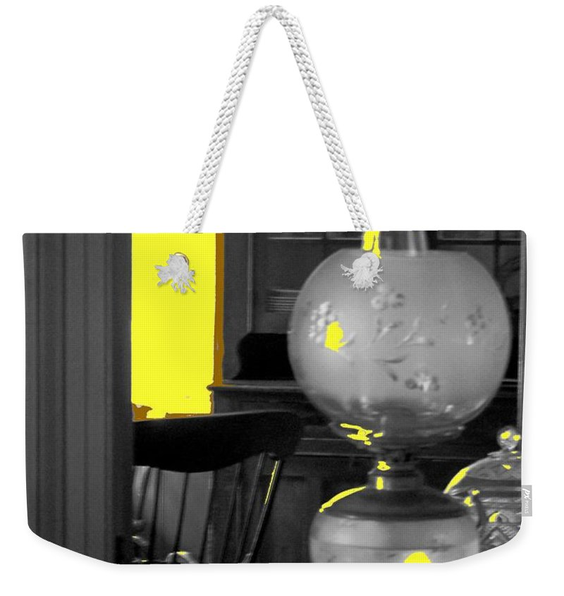 Antiques Weekender Tote Bag featuring the photograph Light Among The Antiques by Ian MacDonald