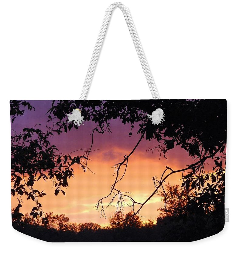 Storm Weekender Tote Bag featuring the photograph Light At The End Of The Storm by J R Seymour