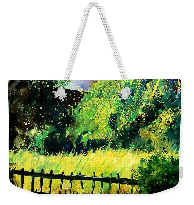 Spring Weekender Tote Bag featuring the painting Light Before The Storm by Pol Ledent