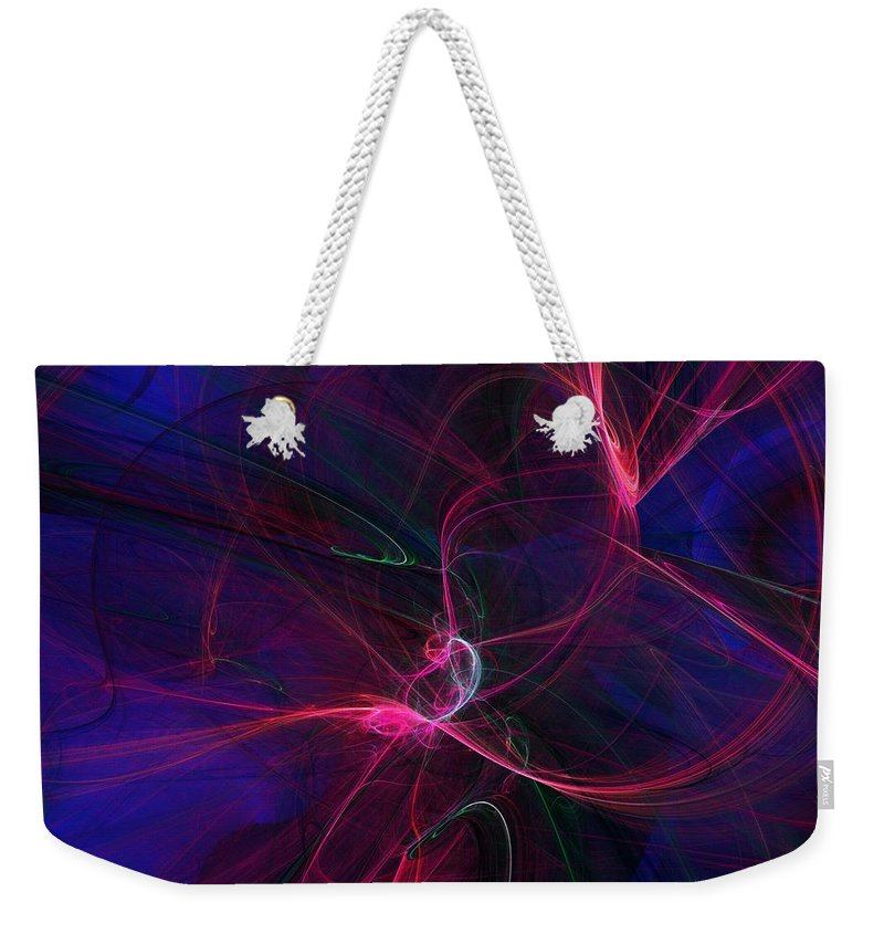Abstract Digital Painting Weekender Tote Bag featuring the digital art Light Dance 11-25-09 by David Lane