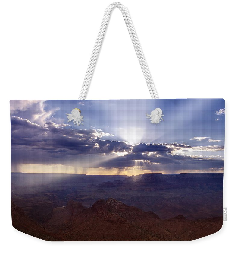 Grand Weekender Tote Bag featuring the photograph Light Explosion by Ricky Barnard