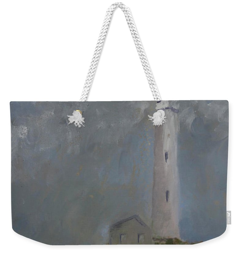 Weekender Tote Bag featuring the painting Light From Above by Beatriz Flores