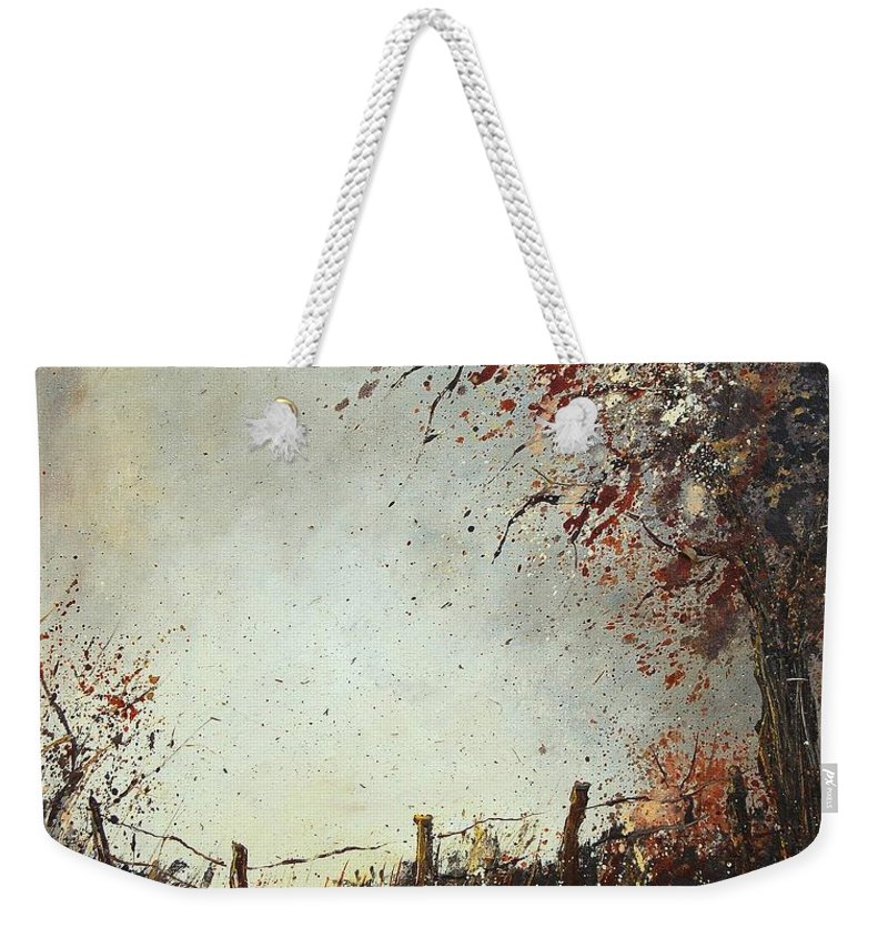 Tree Weekender Tote Bag featuring the painting Light In Autumn by Pol Ledent