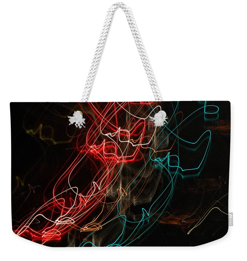 Abstract Digital Photo Weekender Tote Bag featuring the photograph Light In Motion by David Lane