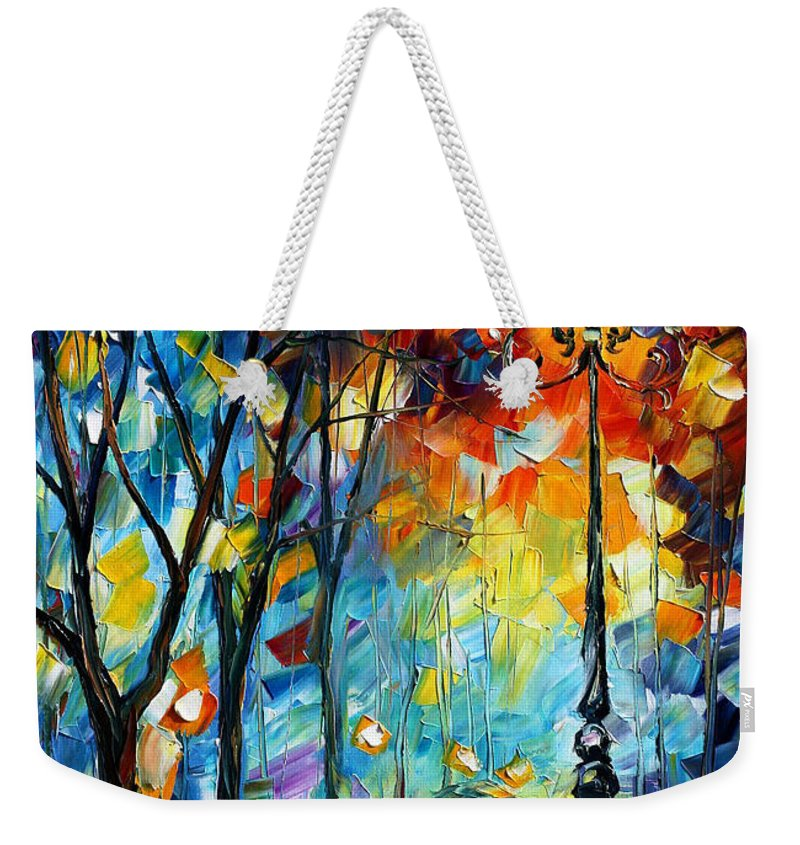 Afremov Weekender Tote Bag featuring the painting Light by Leonid Afremov