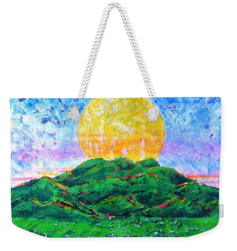 Sun Weekender Tote Bag featuring the painting Light Of Day by Rollin Kocsis
