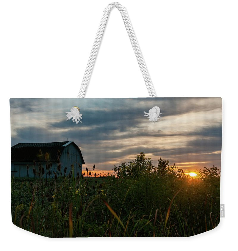 Barn Weekender Tote Bag featuring the photograph Light Of Hope by Angela Mocniak