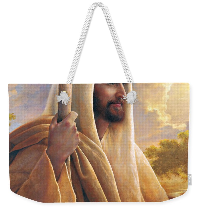 Light Of The World Weekender Tote Bag featuring the painting Light of the World by Greg Olsen