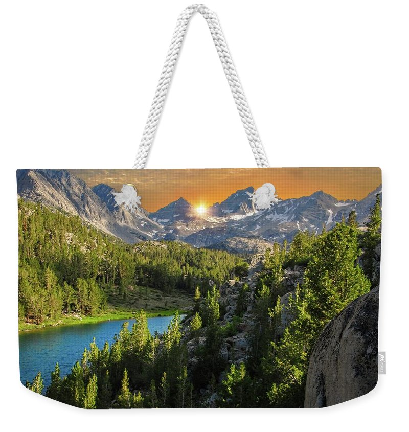 High Sierra Weekender Tote Bag featuring the photograph Light On Mack Lake by Lynn Bauer