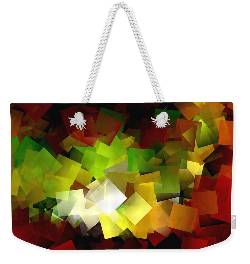 Kubic Weekender Tote Bag featuring the digital art Light On The End Of Darkness by Helmut Rottler