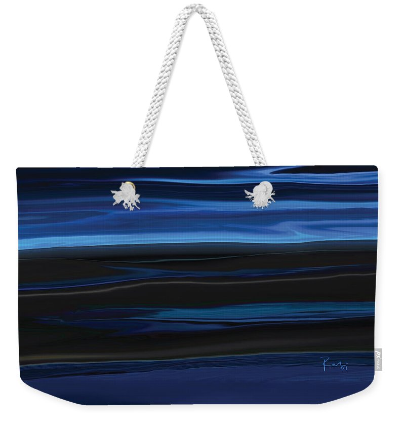 Black Weekender Tote Bag featuring the digital art Light On The Horizon by Rabi Khan
