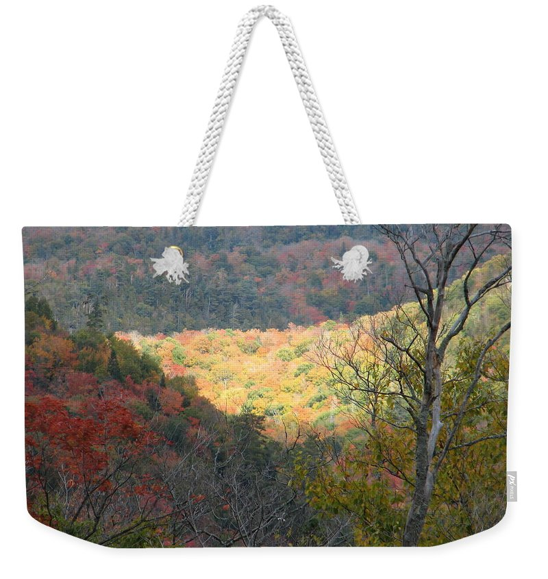 Fall Weekender Tote Bag featuring the photograph Light On The Valley by Kelly Mezzapelle