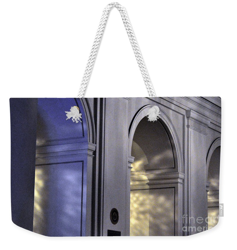 Clay Weekender Tote Bag featuring the photograph Light Splattered Arches by Clayton Bruster