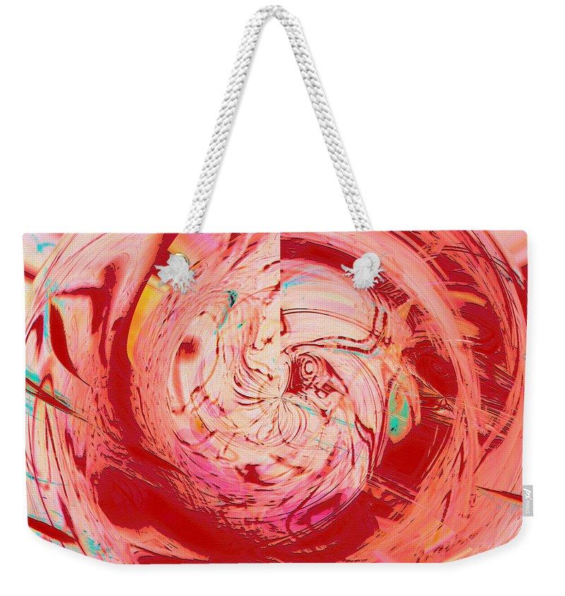 Abstract Art Weekender Tote Bag featuring the digital art Light Waves by Linda Sannuti