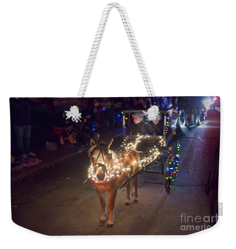 Lighted Pony Weekender Tote Bag featuring the photograph Lighted Pony by David Arment