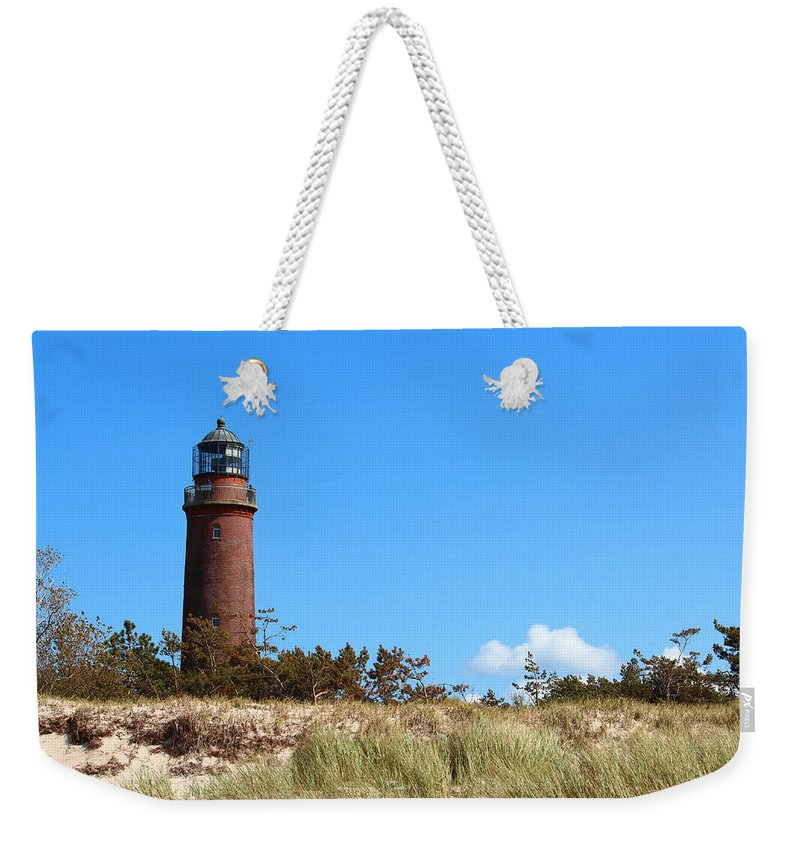 Lighthouse Weekender Tote Bag featuring the photograph Lighthaus Darss by Heike Hultsch