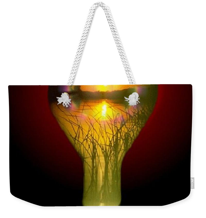 Sunset Weekender Tote Bag featuring the photograph Lighthearted Sunset by Tim Allen