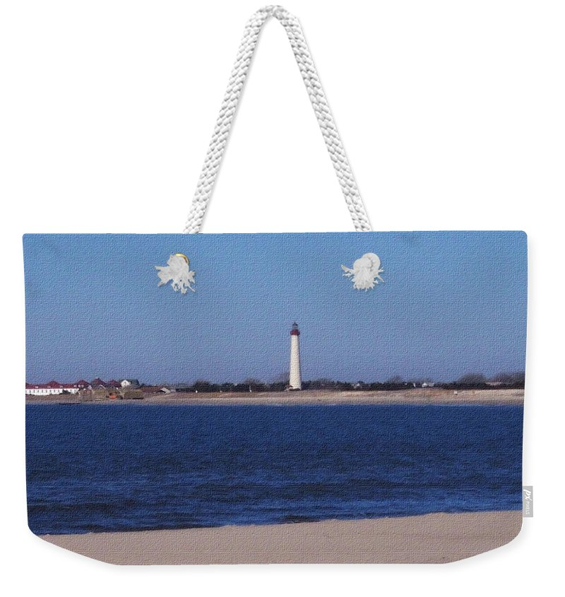 Lighthouse Weekender Tote Bag featuring the photograph Lighthouse At The Point by Pharris Art
