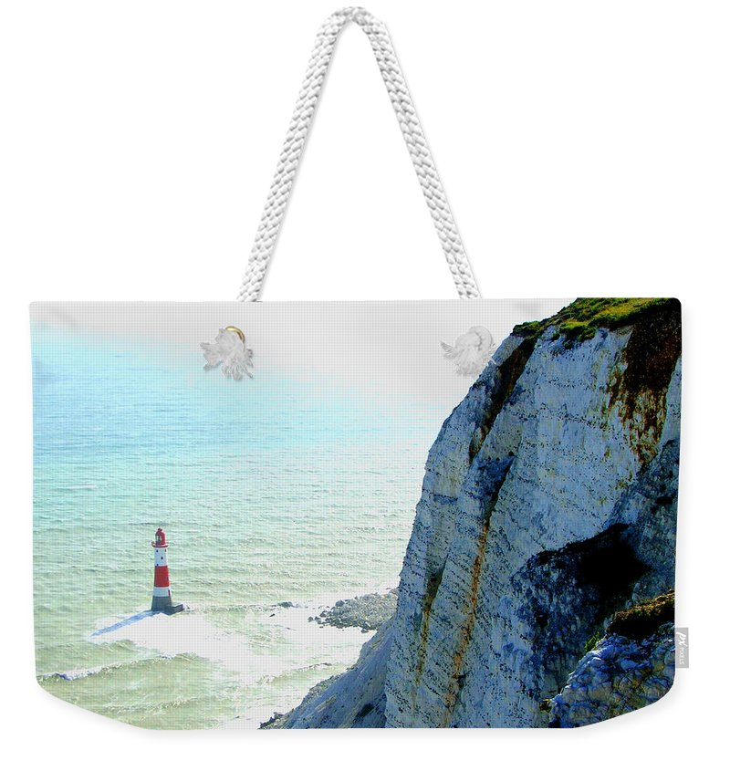 Lighthouse Weekender Tote Bag featuring the photograph Lighthouse by Heather Lennox