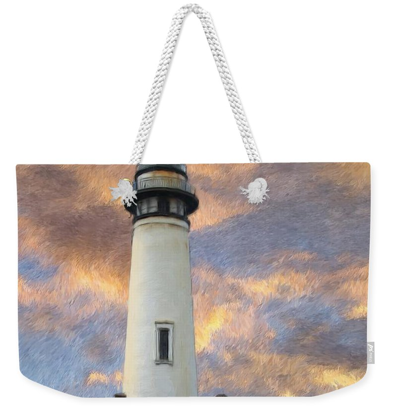 Lighthouse Art Weekender Tote Bag featuring the digital art Lighthouse Visitors by Snake Jagger