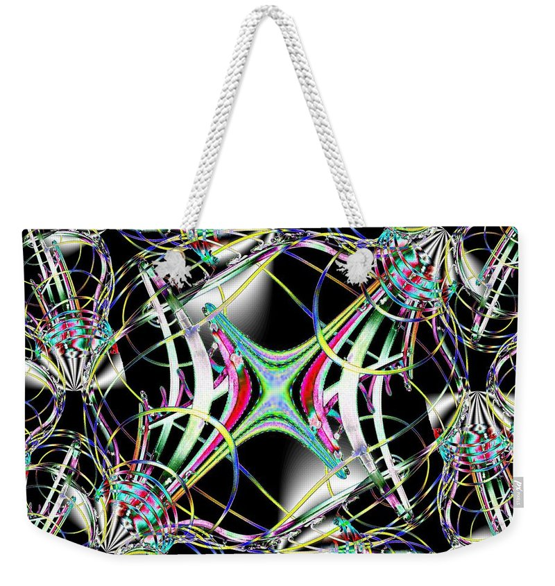 Seattle Weekender Tote Bag featuring the photograph Lighting Supply Fractal by Tim Allen