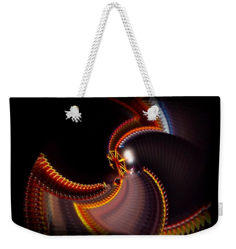 Chaos Weekender Tote Bag featuring the painting Lightning Wheel by Charles Stuart