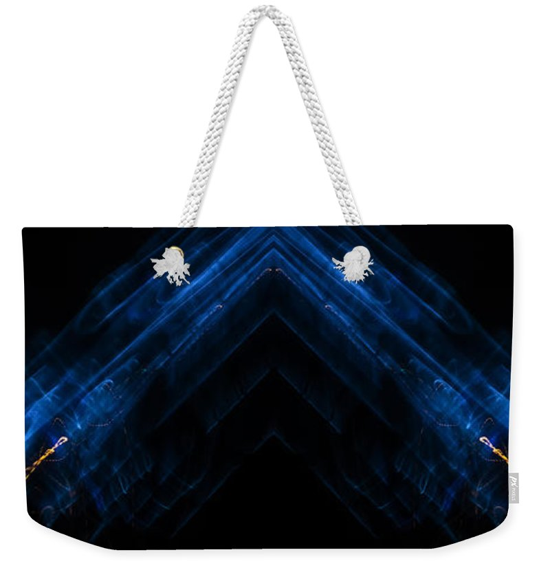 Prism Weekender Tote Bag featuring the photograph Lightpainting Panorama Print Photograph 5 by John Williams