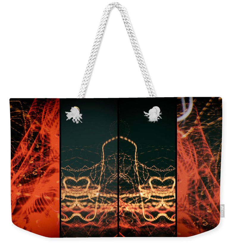 Form Weekender Tote Bag featuring the photograph Lightpainting Quads Art Print Photograph 1 by John Williams