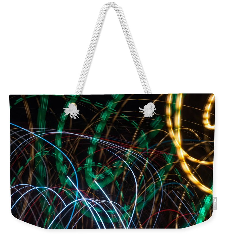 Online Art Gallery Weekender Tote Bag featuring the photograph Lightpainting Single Wall Art Print Photograph 1 by John Williams