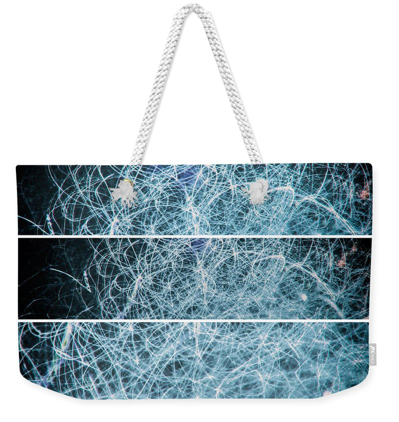Abstract Gestalt Weekender Tote Bag featuring the photograph Electric Spaghetti Western by John Williams