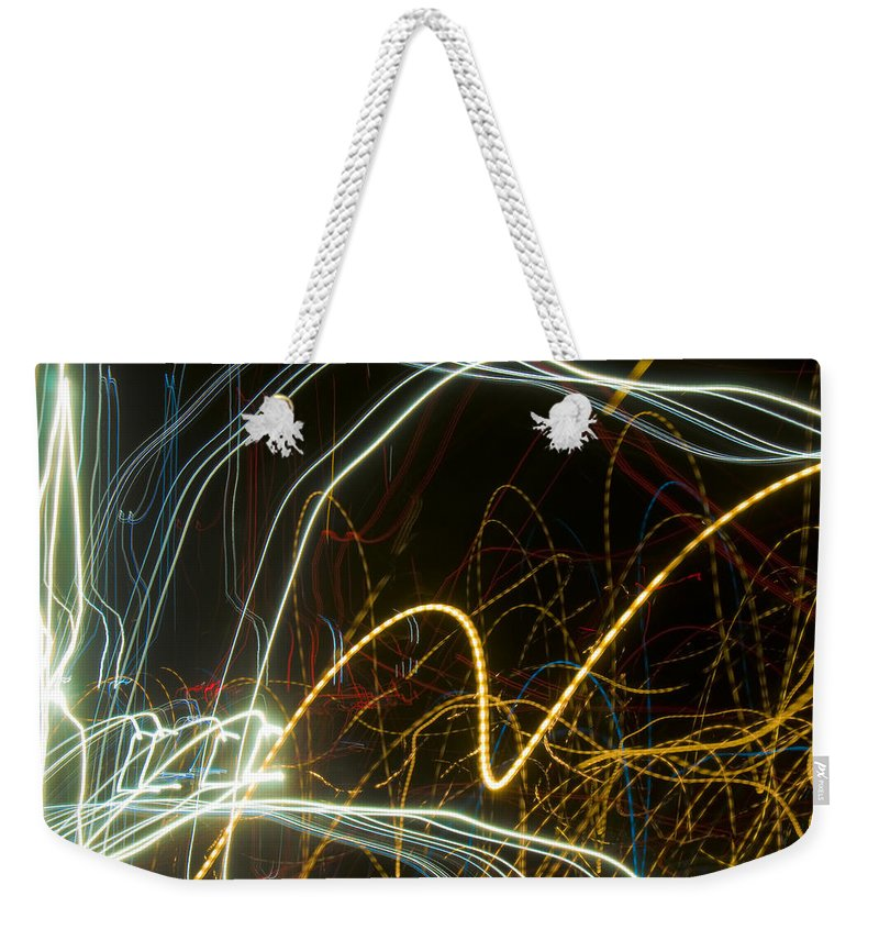 Abstract Weekender Tote Bag featuring the photograph Lights Abstract2 by Svetlana Sewell