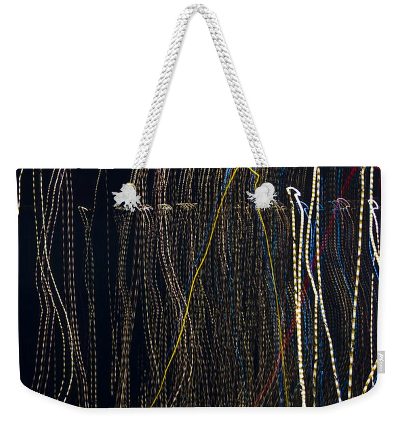 Abstract Weekender Tote Bag featuring the photograph Lights Abstract5 by Svetlana Sewell