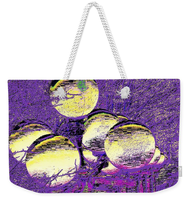 Landscape Weekender Tote Bag featuring the digital art Lights Along The Way 4 by Tim Allen