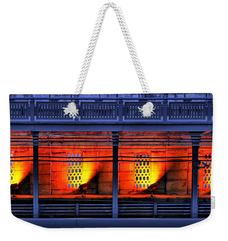 Abstract Weekender Tote Bag featuring the photograph Lights And Shadows by Evelina Kremsdorf
