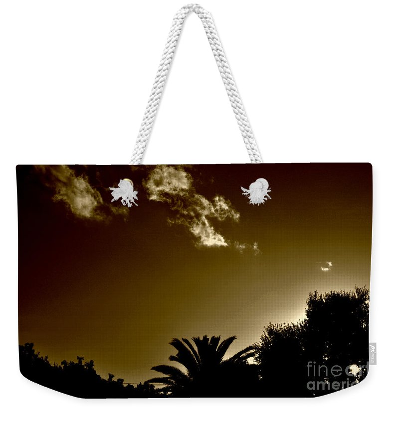 Clay Weekender Tote Bag featuring the photograph Lights by Clayton Bruster