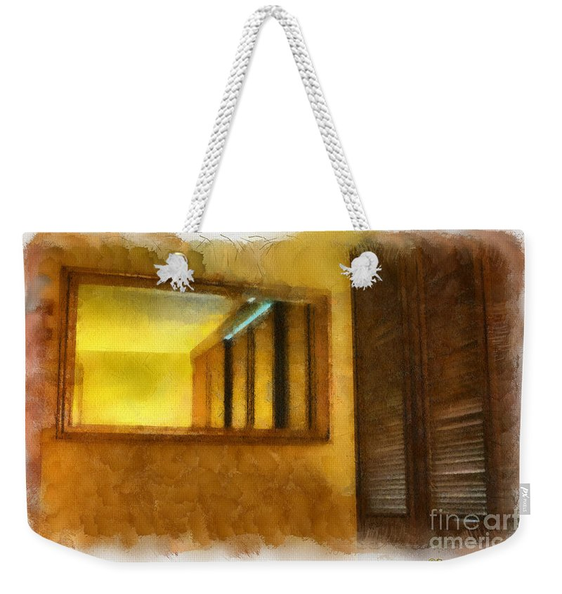 Hawaii Weekender Tote Bag featuring the painting Lights Early Reflection by Paulette B Wright
