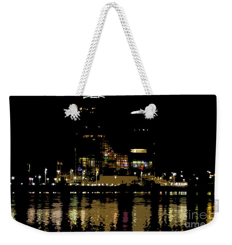 Tampa Museum Of History Weekender Tote Bag featuring the painting Lights On History by David Lee Thompson