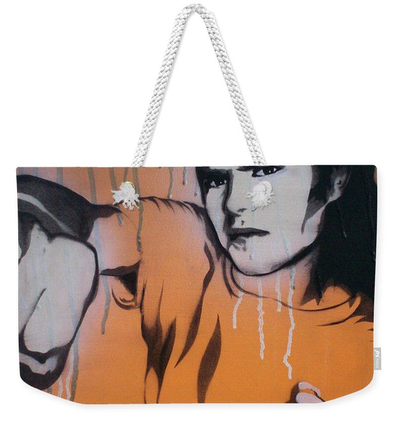 Lights Out Weekender Tote Bag featuring the painting Lights Out by Gary Hogben