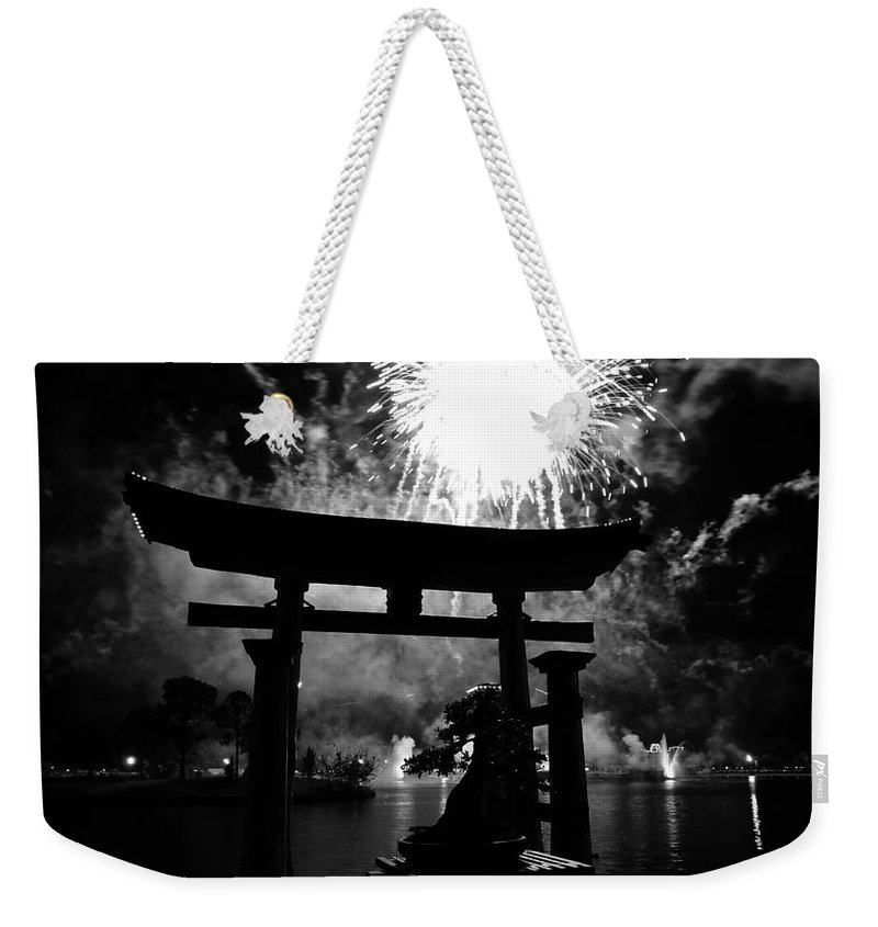 Japan Weekender Tote Bag featuring the photograph Lights Over Japan by David Lee Thompson