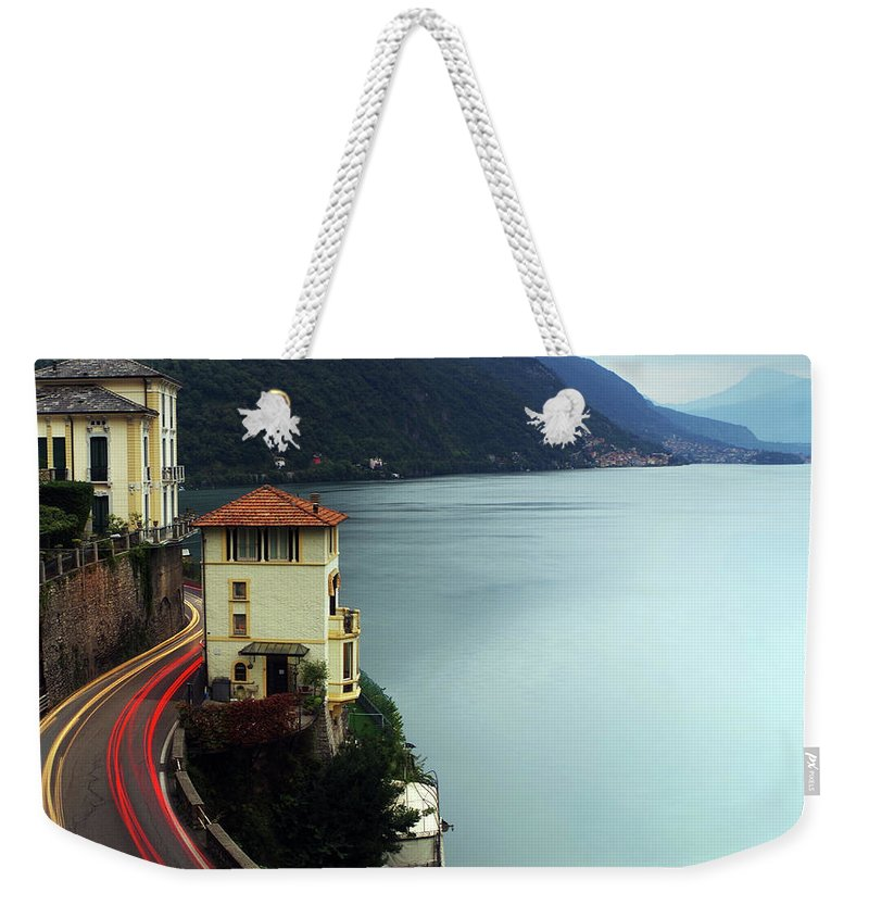 Landscape Weekender Tote Bag featuring the photograph Lights Paths by Luigi Girola